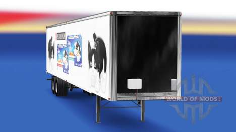 La piel Felix v2.0 en el semi-remolque para American Truck Simulator