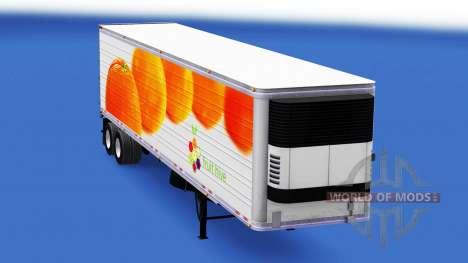 La piel de las Naranjas en el remolque para American Truck Simulator