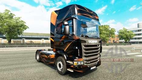 Mate de piel de Naranja para Scania camión para Euro Truck Simulator 2