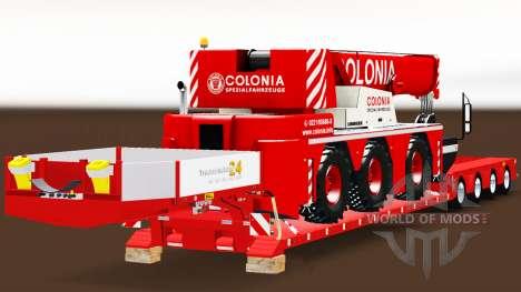 Baja de barrido con un camión de carga de la grú para Euro Truck Simulator 2