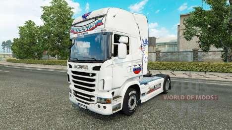 Rusia Blanca de la piel para el camión Scania para Euro Truck Simulator 2