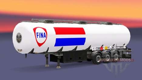 La piel Fina de combustible semi-remolque para Euro Truck Simulator 2