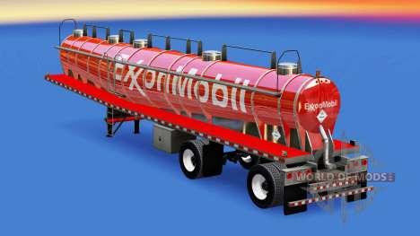 La piel de ExxonMobil chemical tanque para American Truck Simulator