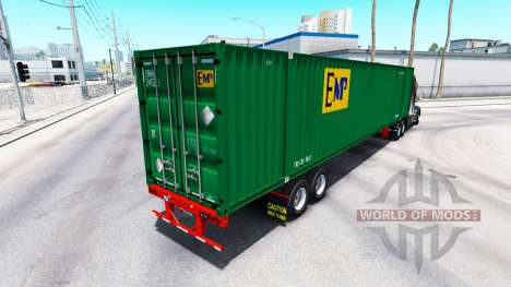 Semirremolque contenedor de EMP para American Truck Simulator