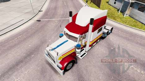 La piel DE in-N-OUT para el camión Peterbilt 389 para American Truck Simulator