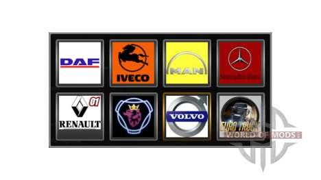 Logotipos de empresas para Euro Truck Simulator 2