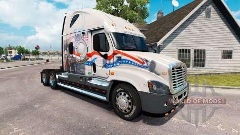 Скин Bay Y la Bahía de POW MIA на Freightliner Cascadia para American Truck Simulator