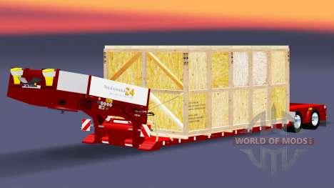 Bajo el barrido con la mercancía en un cajón de  para Euro Truck Simulator 2