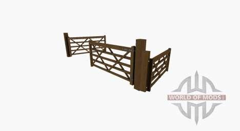 Puerta de madera para Farming Simulator 2017