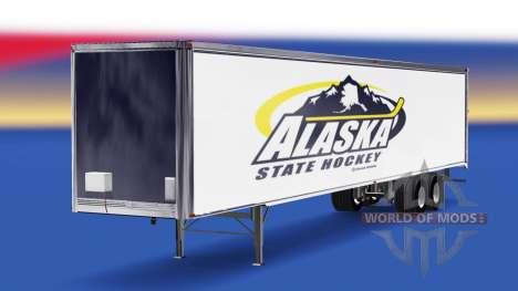 La piel del Estado de Alaska de Hockey en el rem para American Truck Simulator