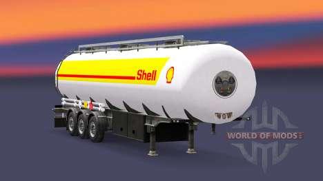 La piel de Shell para el combustible remolque para Euro Truck Simulator 2