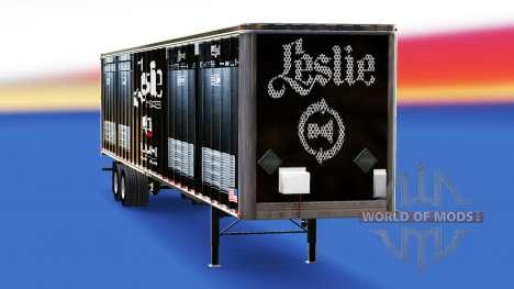 La piel Leslie Altavoces en el remolque para American Truck Simulator