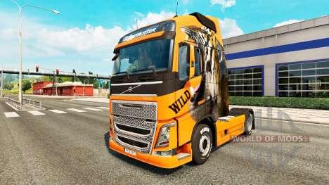 Salvaje de la piel para camiones Volvo para Euro Truck Simulator 2