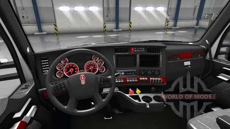 Interior Rojo Marcado para Kenworth T680 para American Truck Simulator