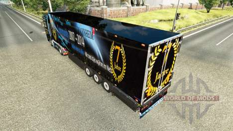 Semitrailer el refrigerador Schmitz DJ Charty para Euro Truck Simulator 2
