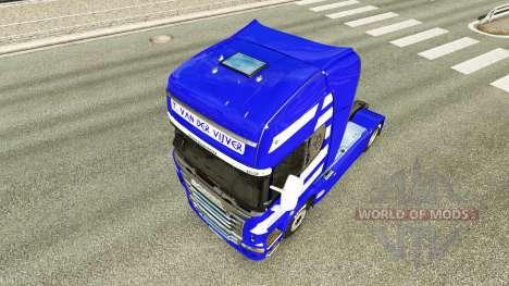 La piel de T. van der Vijver en el tractor Scani para Euro Truck Simulator 2