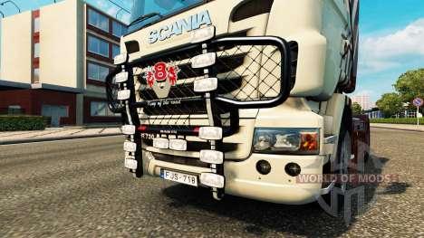 El parachoques V8 v2.0 camión Scania para Euro Truck Simulator 2
