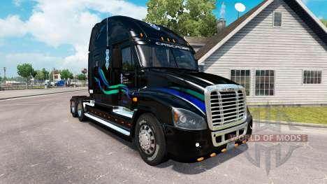 Скин Juan Christner на Freightliner Cascadia para American Truck Simulator