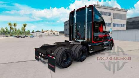 La piel Canadian Express Negro camión Kenworth para American Truck Simulator