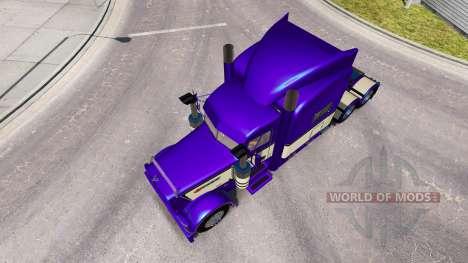 Metálico de color Púrpura en la piel para que el camión Peterbilt 389 para American Truck Simulator