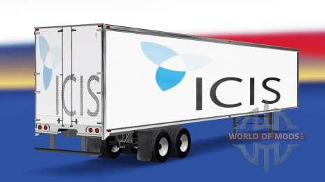 La piel de EL en el remolque para American Truck Simulator