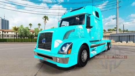 Fuego azul de la piel para Volvo VNL 670 camión para American Truck Simulator