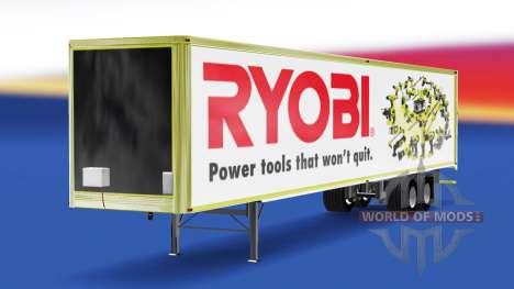 La piel Ryobi en el remolque para American Truck Simulator