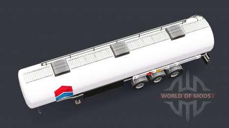 La piel de Chevron de combustible semi-remolque para Euro Truck Simulator 2
