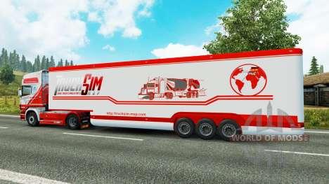 El semirremolque-el refrigerador TruckSim para Euro Truck Simulator 2