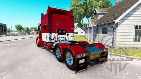 Скин Este Transporte LLC на Peterbilt 389 para American Truck Simulator
