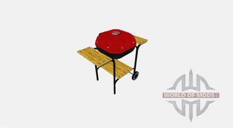 BARBACOA con estantes de madera para Farming Simulator 2017