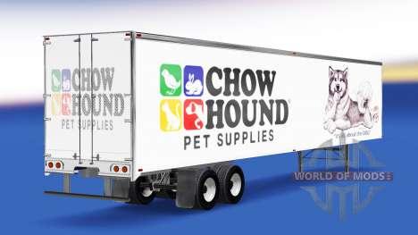 La piel Chow Hound en el remolque para American Truck Simulator