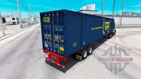 Semirremolque contenedor Intermodal CSX para American Truck Simulator