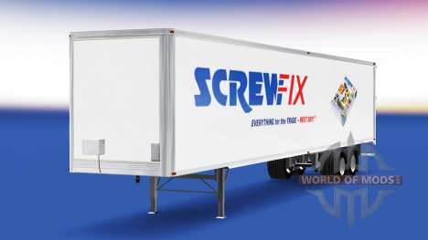La piel Screwfix en el remolque para American Truck Simulator