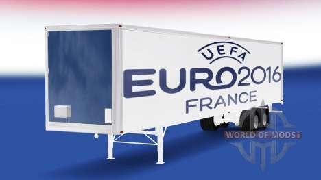 La piel Euro 2016 v2.0 en el semi-remolque para American Truck Simulator
