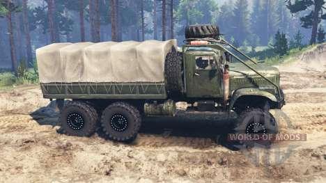 Kraz-255 para Spin Tires
