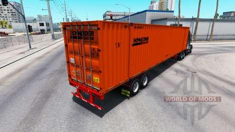 Semitrailer contenedor Schneider para American Truck Simulator