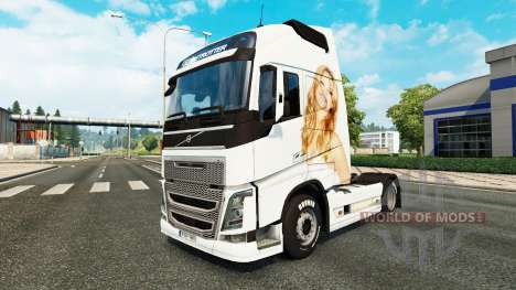 Jennifer Lawrence piel para camiones Volvo para Euro Truck Simulator 2