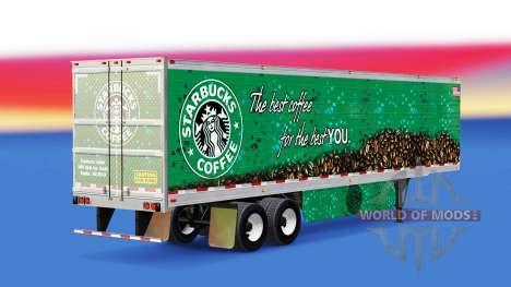 Piel Café de Starbucks en el remolque para American Truck Simulator