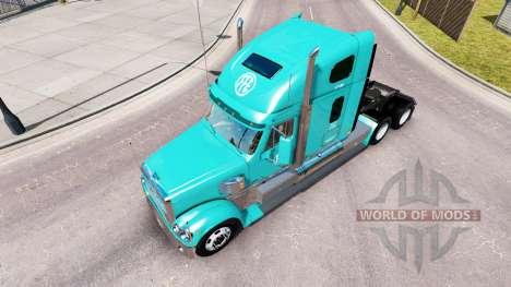 La piel FFE en el camión Freightliner Coronado para American Truck Simulator