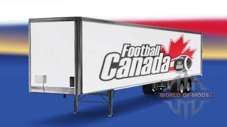 La piel de Fútbol de Canadá v2.0 en el semi-remo para American Truck Simulator
