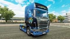 El desastre de Transporte de la piel para Scania