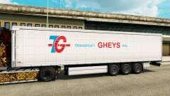 La piel de Transporte Gheys en semi