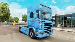 Braspress de la piel para Scania camión