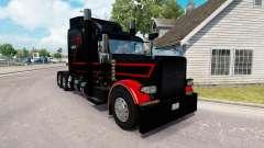 Piel Negro Y Rojo para el camión Peterbilt 389