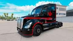 La piel Canadian Express Negro camión Kenworth