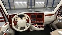 El interior es Retro Marcado para Kenworth T680