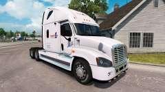 La piel de la Carga en un camión Freightliner Ca
