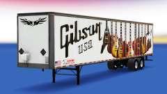 La piel de Guitarras Gibson en el remolque