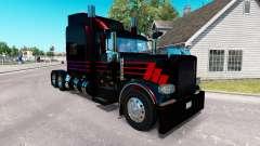 Piel Negro SR en el camión Peterbilt 389